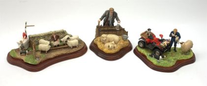 Three Border Fine Arts figure groups, comprising A Helping Hand, model no A5893 by Hans Kendrick, fi