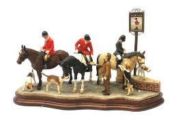 A limited edition Border Fine Arts figure group, Gather at the Snooty Fox, model no B1160 by Anne Wa