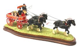 A limited edition Border Fine Arts figure group, The Unicorn, model no B1203, by Ray Ayres, 14/35