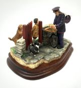 A limited edition Border Fine Arts figure group, Birthday Surprise, model no B0837 by Craig Harding,