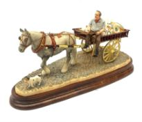 A limited edition Border Fine Arts figure group, Pot Cart, model no B1015 by Ray Ayres, 218/600, on