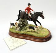 A limited edition Border Fine Arts figure group, A Day With The Hounds, model no B0789 by Anne Wall,