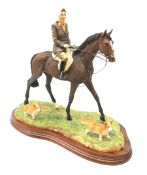 A limited edition Border Fine Arts figure group, Morning Exercise at Balmoral, model no B0814 by Cra