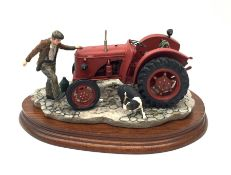 A Border Fine Arts figure group, Kick Start, model no B0541, by Ray Ayres, on wooden base, figure L2