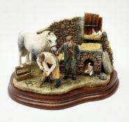 A limited edition Border Fine Arts figure group, Finishing Off, model no B0947 by Hans Kendrick, 610