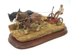 A limited edition Border Fine Arts figure group, Hay Cutting Starts Today (Standard Edition), model