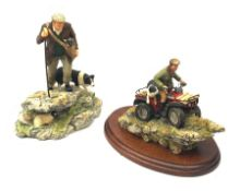 Two Border Fine Arts figure groups, comprising of Easy Riders 153 on wooden base with certificate an
