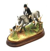 A limited edition Border Fine Arts figure group, Following To Hounds, model no B0951A by Anne Wall,