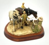 A limited edition Border Fine Arts figure group, You Can Lead a Horse to Water, model no BFA202 by A