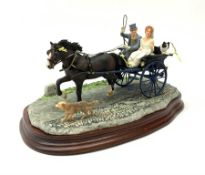 A limited edition Border Fine Arts figure group, Just Married, model no B0883 by Ray Ayres, 255/950,