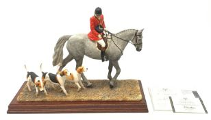 A limited edition Border Fine Arts figure group, Hounds Away, model no B1070A by Anne Wall, 401/950,