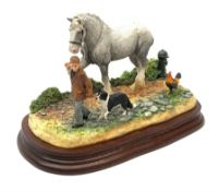 A limited edition Border Fine Arts figure group, Off To The Smithy, model no B0955, by Ray Ayres, 29