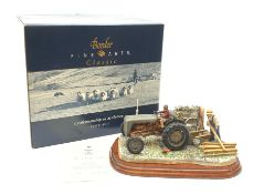 A Border Fine Arts figure group, Golden Memories, model no B0799, by Ray Ayres, on wooden base, figu