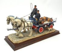 A limited edition Border Fine Arts figure group, 'The Gentle Giants' (Tetley's Dray), model no PJ01