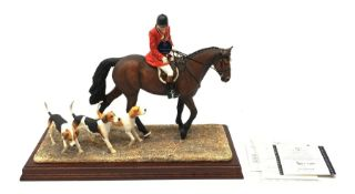 A limited edition Border Fine Arts figure group, Hounds Away, model no B1070 by Anne Wall, 26/950, o