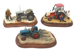 Three Border Fine Arts figure groups, comprising of Getting Ready for Smithfield A2143 on wooden bas