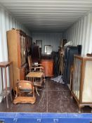 Container Contents Auction - entire container contents to include two grand pianos, mahogany doors,