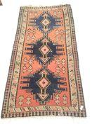 Kelim beige ground rug, repeating border, 280cm x 152cm