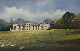 Kenneth W Burton (British 1946-): 'Woburn Bedfordshire', watercolour signed and titled 15cm x 22cm