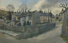 William (Bill) Kirby (Northern British 1934-2019): Dales Village, watercolour signed 33cm x 52cm