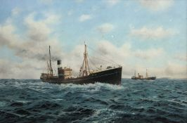 David C Bell (British 1950-): Hull Trawler 'Cape Mariato H364' in open waters, oil on canvas signed