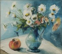 English School (Mid 20th century): Still Life Jug of Flowers, watercolour and pencil unsigned 36cm x
