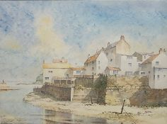 Christopher F Stocks (British 20th/21st century): Staithes Beck, watercolour, inscribed and dated 20