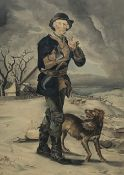 H D B after Thomas Barker (British 1769-1847): 'The Woodman', watercolour signed with monogram HDB a