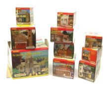 Hornby Skaledale - ten various buildings including St. James' Parish Church, Country Fire Station, N