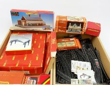 Hornby/Tri-ang '00' gauge - Central Station, Dunster Station and Booking Hall un-made kits; Station
