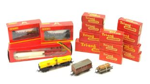 Hornby/Tri-ang '00' gauge - Operating Breakdown Crane and thirteen assorted wagons, all boxed