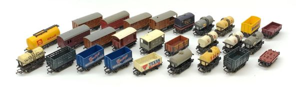 Hornby/Tri-ang '00' gauge - twenty-seven goods wagons/tankers, all unboxed