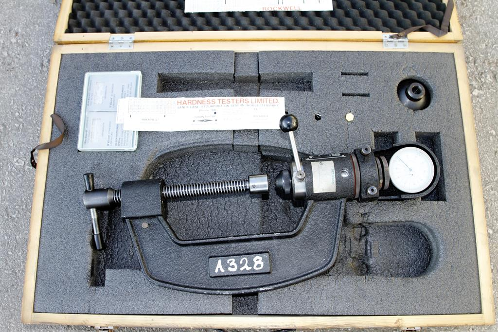 """Lot 57 - An EMCO portable hardness tester in fitted box 33"""" x 21"""" x 6"""" AF"""