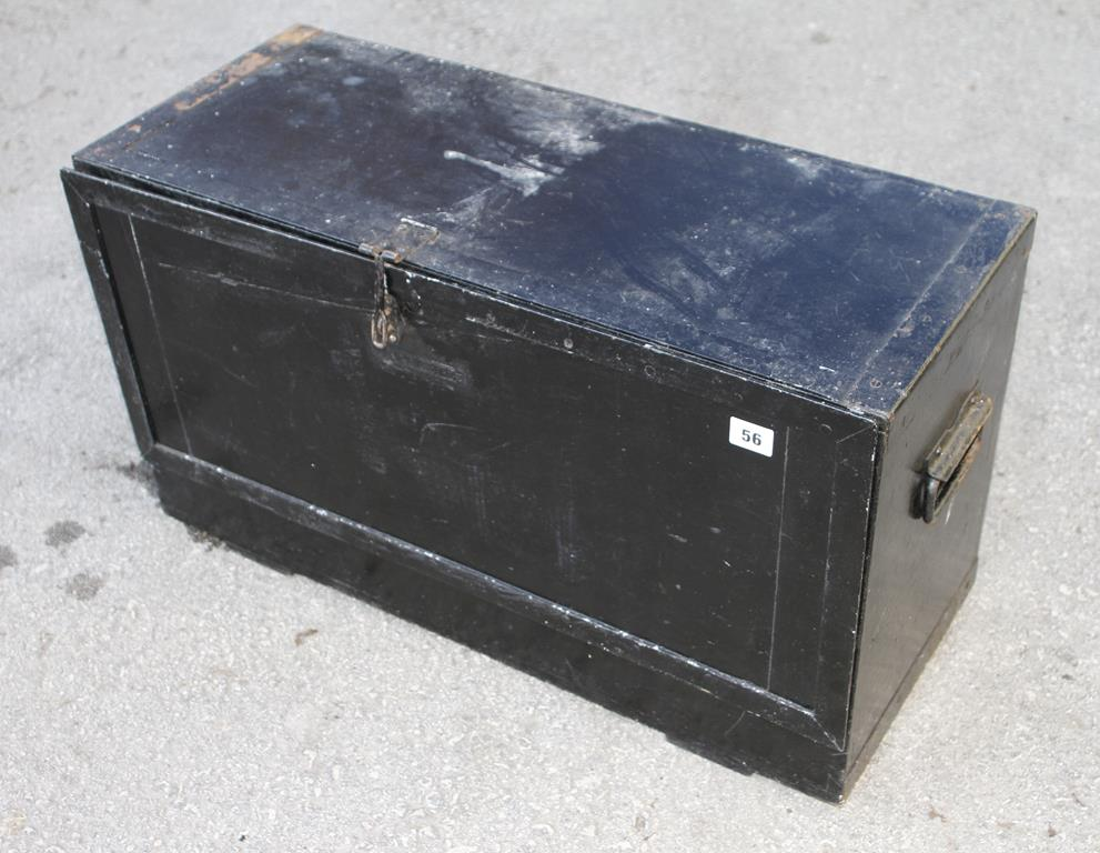 Lot 56 - A tool box with four drawers G
