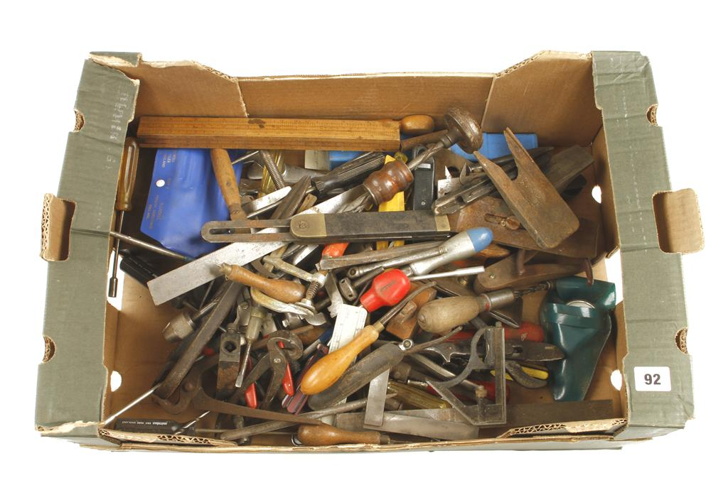 Lot 92 - A box of tools G