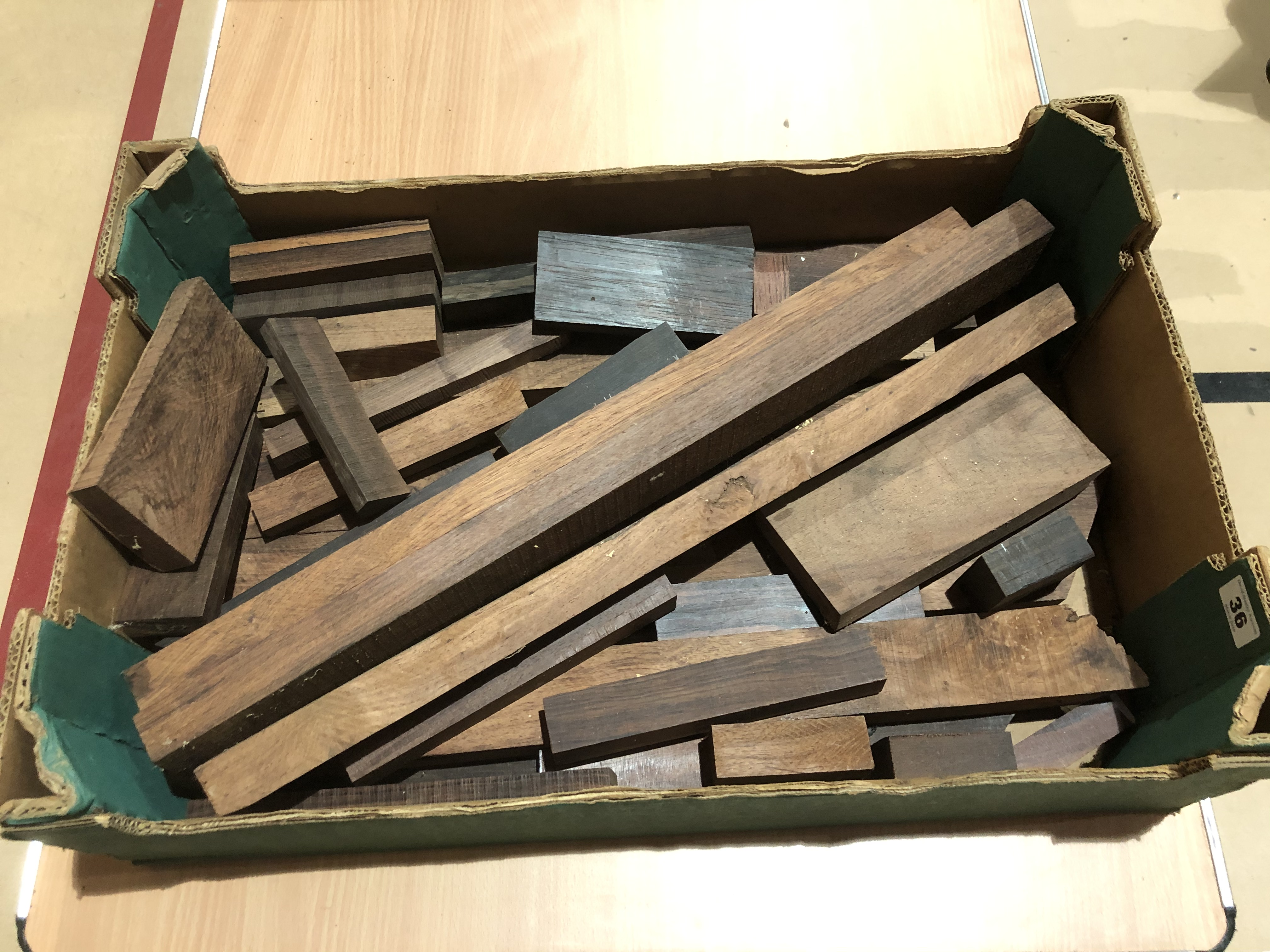 Lot 36 - A quantity of rosewood offcuts G