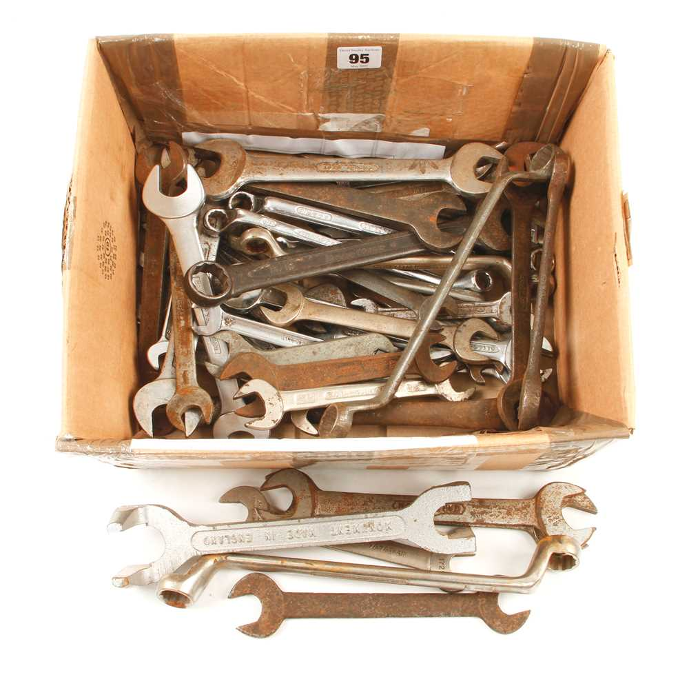 Lot 95 - A quantity of spanners G