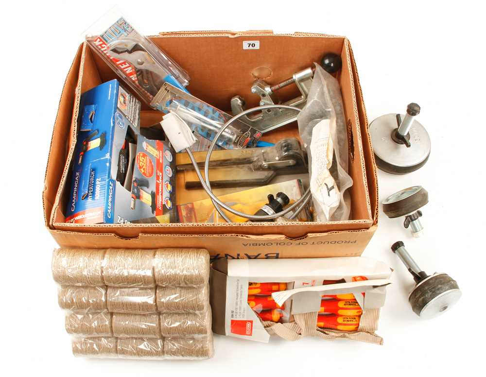 A quantity of modern tools etc. F