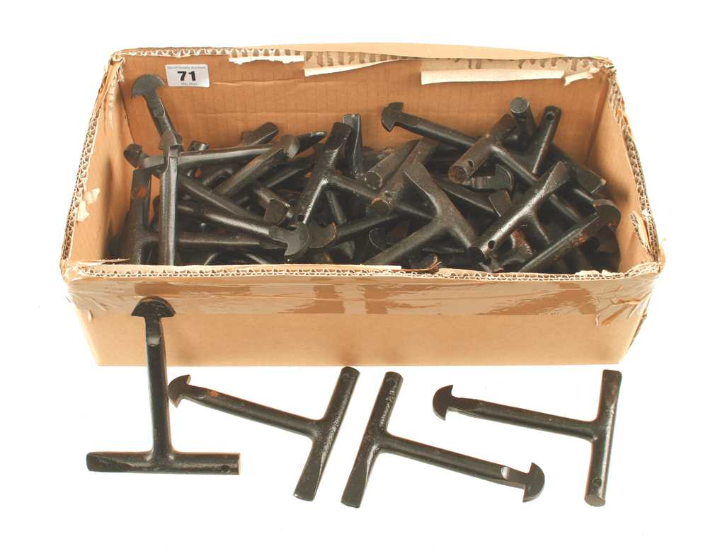 Lot 71 - 25 pairs of manhole cover keys F
