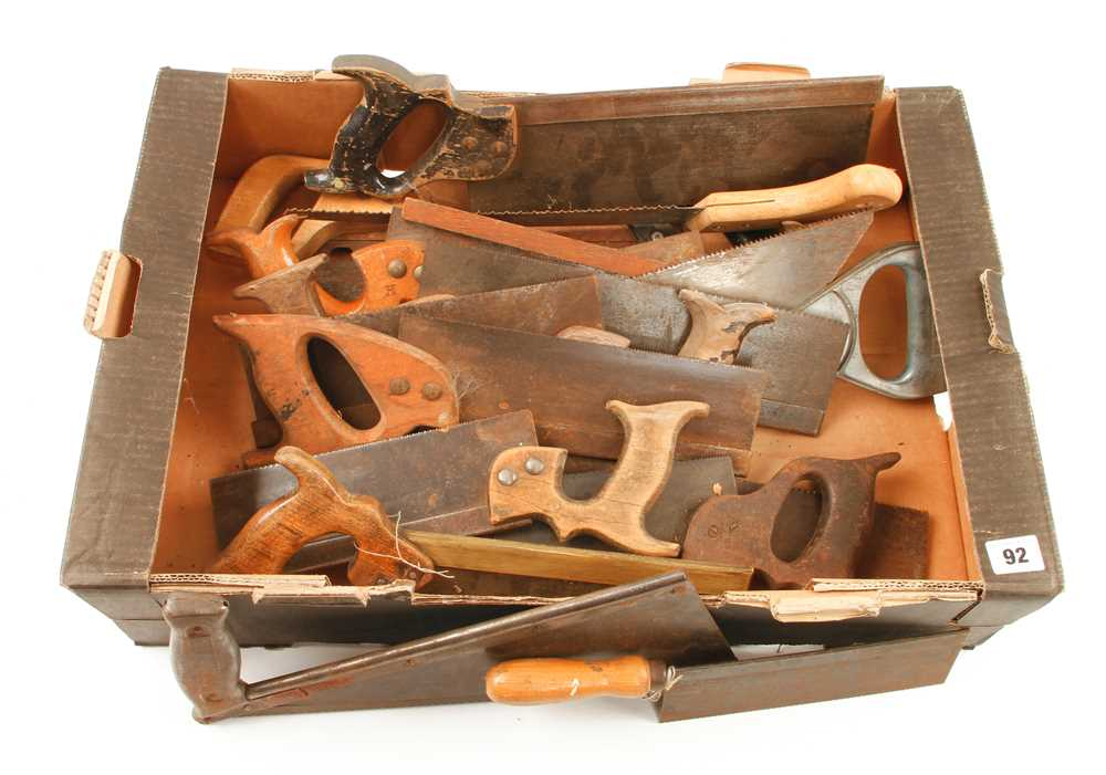 A quantity of old saws some light rust G