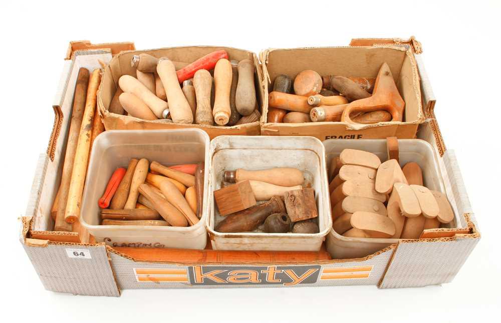 Lot 64 - Quantity of wood handles F