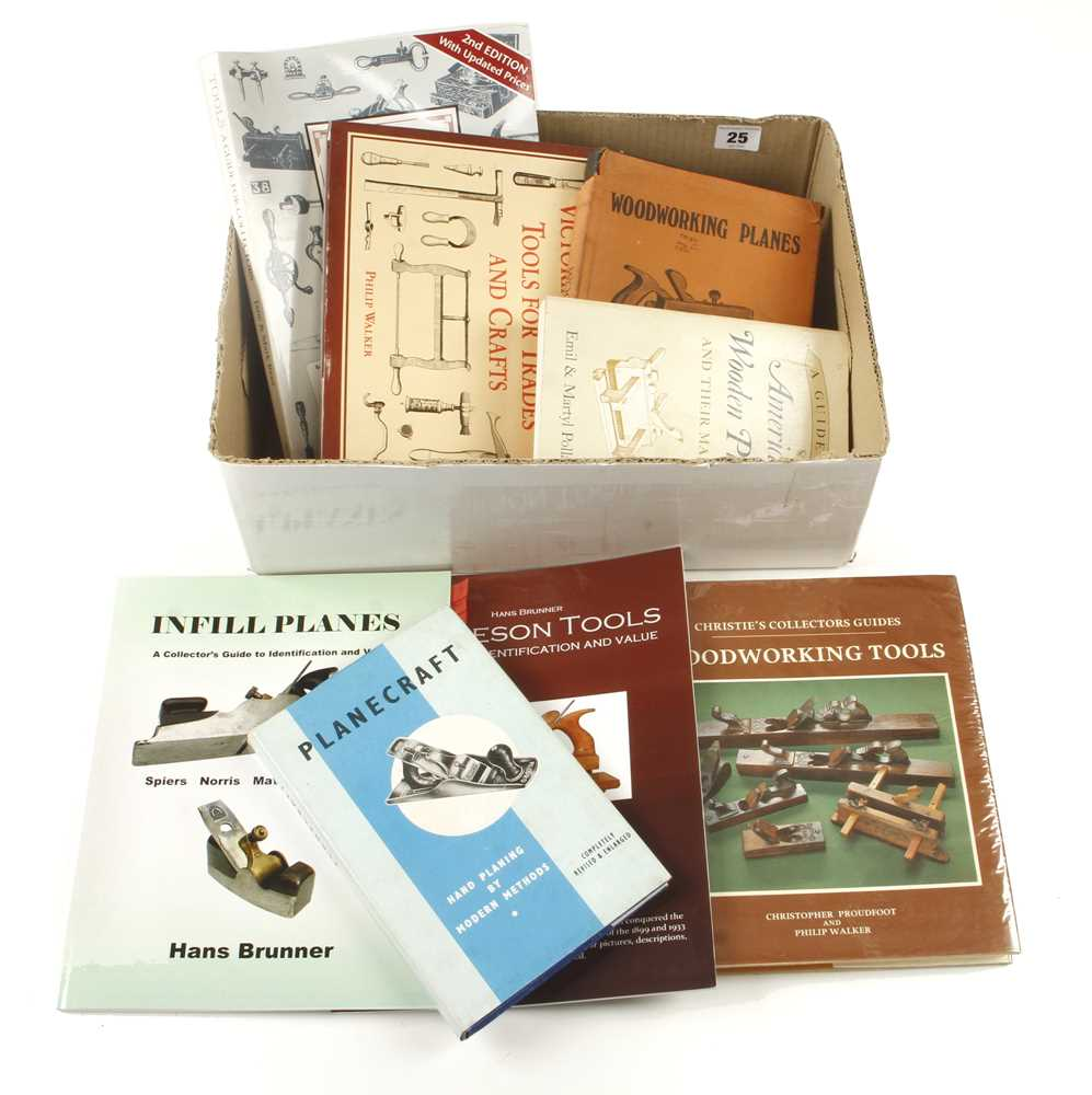 Lot 25 - Eight woodworking tool books by Rees, Proudfoot, Walker, Sellens etc G+