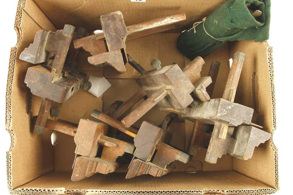 Lot 10 - Six ploughs and fillester for restoration G-