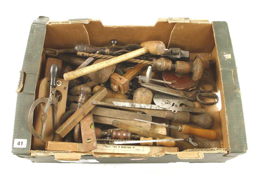 Lot 41 - A box of tools G