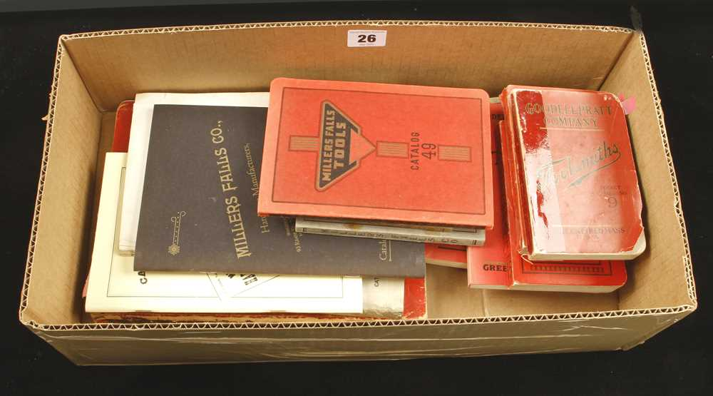 Lot 26 - 11 tool catalogues by Millers Falls and Goodell Pratt G