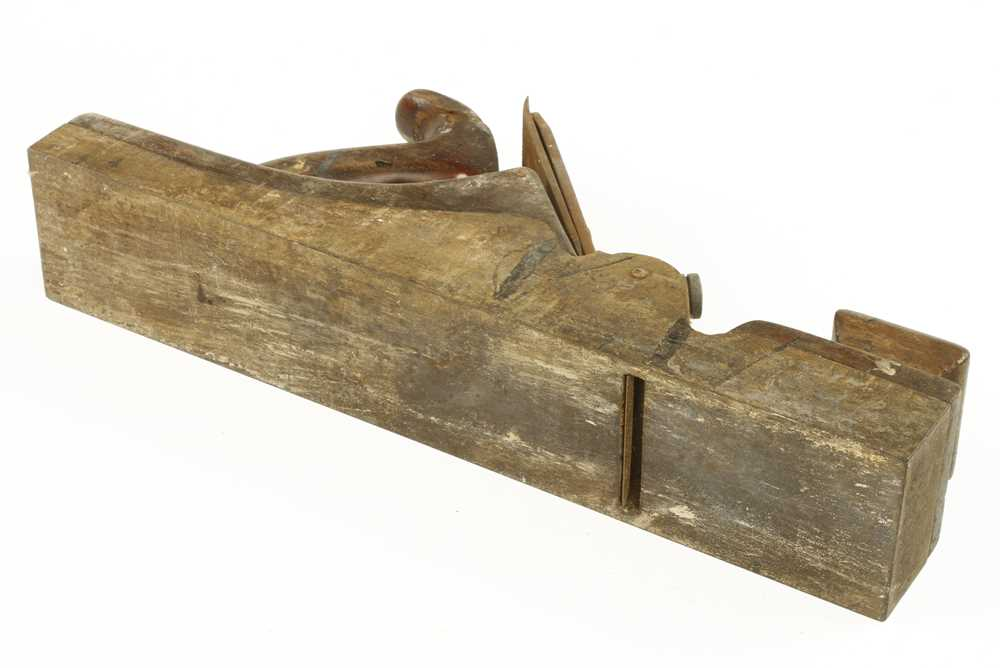 """Lot 48 - A 13 1/2"""" iron panel plane with brass lever for restoration"""