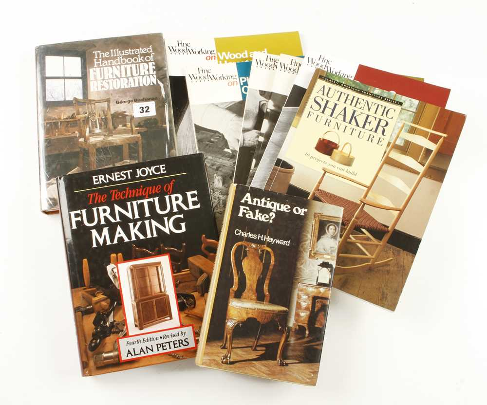 Lot 32 - Nine furniture books G
