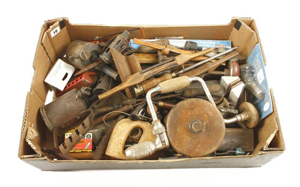 Lot 16 - A box of tools G