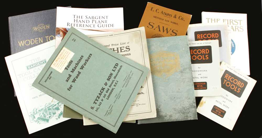 Lot 28 - 11 reprint catalogues for Disston, Record, Tyzack, Sargent, Woden etc G+