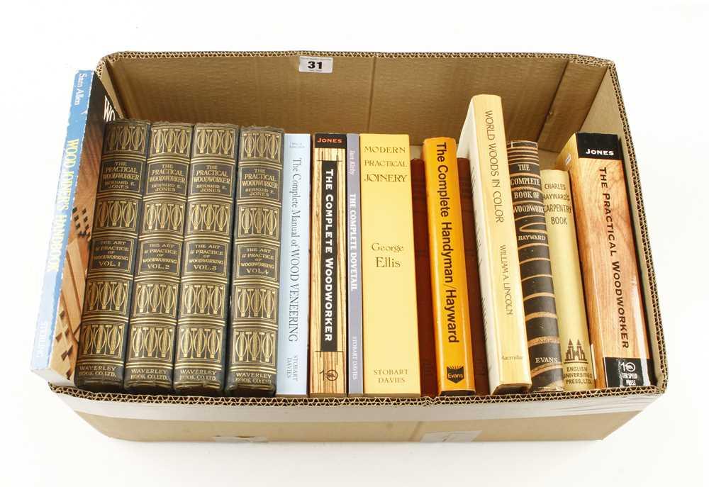 Lot 31 - Bernard E. Jones; The Practical Woodworker 4 vols and other books G